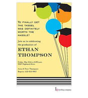 Balloon Grads Invitation