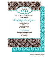 Brown Geometric Invitation