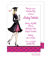 Gorgeous Grad (Blonde) Invitation