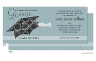 Circles Graduation Hat Graduation Announcement