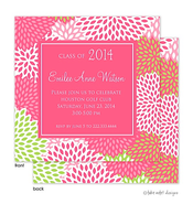 Beautiful Mums Solid Center Graduation Announcement