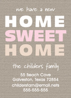 Home Sweet Home Custom Moving Announcement