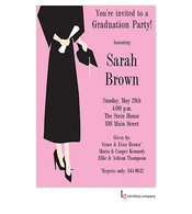 Grad Girl Invitation