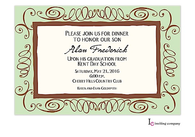 Mint & Brown Swirl Invitation