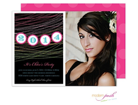 Grad Banner Digital Photo Invitation
