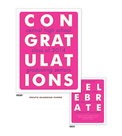 Pink Congratulations Graduation Announcement Sweet Petite Invitation
