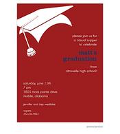 Graduation Invitation - Crimson