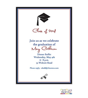 Mortar Board Flat Invitation
