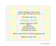 Alpha Blocks Petites Invitation