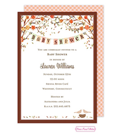 Baby Bird Fall Shower Invitation