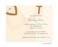 Baby Bump Tan Petites Invitation