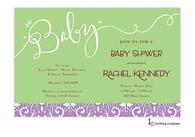 Baby Green Invitation