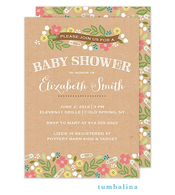 Baby Shower Floral Sprinkles Invitation
