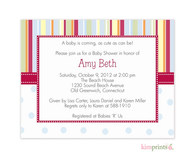 Big Top Baby Nursery Notes Invitation