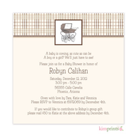 Central Park West Baby Shower Classic Square Invitation