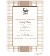 Central Park West Baby Shower Flat Cards Invitation
