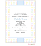 Chatham Blue Baby Shower Flat Cards Invitation