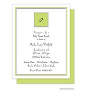 Diaper Pin Chartreuse Invitation