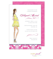 Diva Baby Invitation Blonde