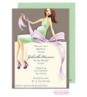 Expecting A Big Gift (Green/Brunette) Invitation