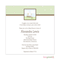 It Had To be Ewe Baby Shower Classic Square Invitation
