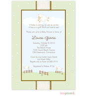 It Had To be Ewe Baby Shower Flat Cards Invitation