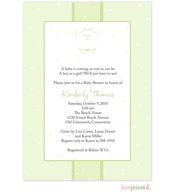 Little Star Onesie Green Baby Shower Flat Cards Invitation