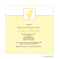 Lucky Ducky Baby Shower Classic Square Invitation