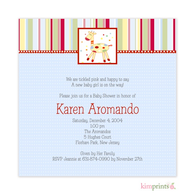 Matty Giffy Blue Baby Shower Classic Square Invitation