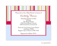 Matty Giffy Blue Nursery Notes Invitation