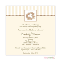 Nesting Place Neutral Baby Shower Classic Square Invitation