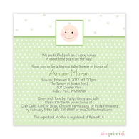 Oh Baby Baby Shower Classic Square Invitation