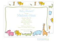 Zoo Animal Invitation