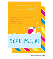 Orange Pool Party Invitation