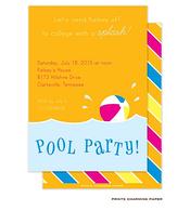 Orange Pool Party Invitation