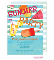 Summer Essentials Blue Invitation