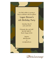 Soldier Camouflage Invitation