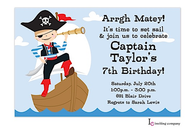 Ahoy Boy Invitation