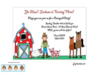 Barnyard Boy Invitation