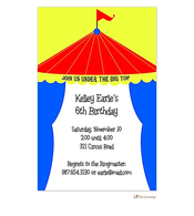 Big Top Circus Invitation