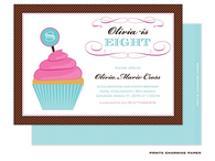 Birthday Cupcake Invitation
