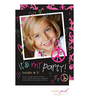 Blackboard Party Digital Photo Invitation