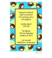 Blue Monkey Invitation