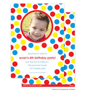 Bounce Party Invitation with Digital Photo