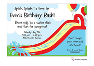 Bouncy Slide Invitation