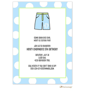 Boys bathing suit invitation