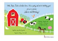 Farm Scene Invitation