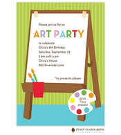 For Art's Sake Party Invitation