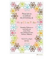 Fun flowers invitation