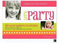 Let's Party Girl Birthday Digital Photo Invitation